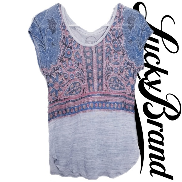 Lucky Brand Tops - Lucky Brand size M top, washed look blue and grey